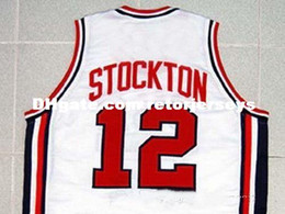 2a868c2f Cheap Mens JOHN STOCKTON TEAM USA JERSEY NEW WHITE ANY SIZE XS - 5XL Retro  Basketball Jerseys