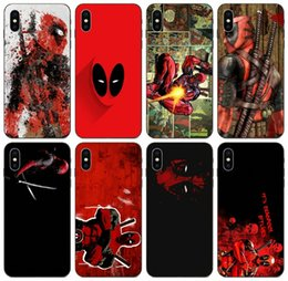 silver deadpool Australia - [TongTrade] Retro Red Grunge Red Deadpool Case For iPhone X XR XS 11 Pro Max 8 7 6s 5s Plus Galaxy J1 J3 Huawei Y9 LG V10 V20 Wholesale Case