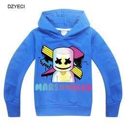 c64b4b019 Marshmello dj music hoodies para o menino grande roupa da menina primavera  outono crianças com capuz