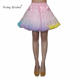 petticoats for cheap Australia - Ruby Bridal New Multi Colored Short Petticoat Tulle Crinoline Underskirt Cosplay Swing For Girl Cheap Tutu Dress Hot