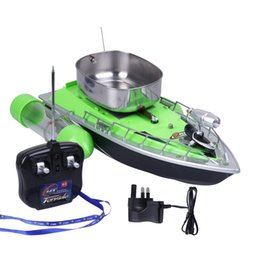 electric fishing lure UK - Electric Wireless Rc Fishing Boat Fish Finder Ship Remote Control Bait Boats Rc lure boat Speedboat With EU US UK Charger Y200413