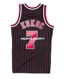 0944eb466bdb NCAA Cheap TONI KUKOC  7 Pinstripe HARDWOOD CLASSIC Throwbacks Jersey Retro  Mens XS-6XL Stitched basketball jerseys