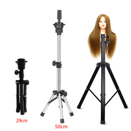 Adjustable Wig Stands Tripod Stand Hair Mannequin Training Head Holder Hairdressing Clamp Hair Wig Head Holder Salon Tools on Sale