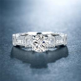 Platinum Plated Wedding Ring Sets Australia - Fashion ladies ring personality fashion OL ladies ring set high quality zircon plated platinum fine ring jewelry bride wedding engagement je