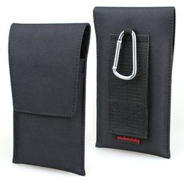 Iphone belt loop pouch online shopping - Vertical Holster Pouch Nylon Carrying Case with Card Pocket and Belt Loops for iPhone Xs Max Samsung Note Galaxy A9 Star