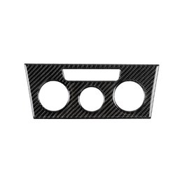 Air conditioned sticker online shopping - Carbon Fiber Car Interior Air Conditioning AC CD Console Panel Decorative Stickers For Volkswagen VW LaVida Car Interior Sticker
