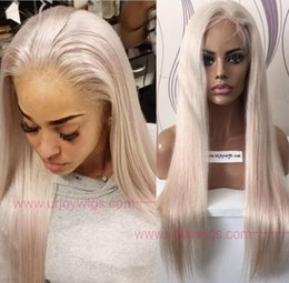 $enCountryForm.capitalKeyWord UK - Celebrity Wigs Lace Front Wig #60 Blonde Silky Straight 10A Grade European Virgin Human Hair Full Lace Wigs for Woman Fast Free Shipping