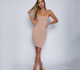 caeca54a6a2 Drop ship club Dresses online shopping - 2019 European And American  Explosions Solid Color Sexy Tight