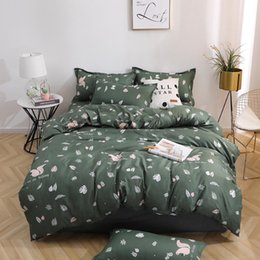 black pink adult bedding UK - Green squirrel 3 4pcs Bed Cover Set Cartoon Duvet Cover Adult Child Bed Sheets And Pillowcases Comforter Bedding Set