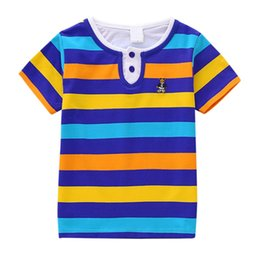 0b5532a91 Children T-shirt For Boys Girls Clothes Summer Short Sleeve Tops Tee  Striped Kids T Shirts Casual Boy Girl Clothing 2-6T