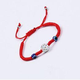 $enCountryForm.capitalKeyWord Australia - 20pcs lot Lucky Kabbalah Red String Bracelets Blue Turkish Evil Eye crystal beads Charms Women Handmade Fatima Friendship Jewelry