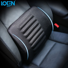 Wood Office Chairs Australia - 1pcs Breathable Mesh Cloth Car Seat Lumbar Cushion Pillows Soft Cotton Back Support For Car Seat And Office Chair Lumbar Support C19041201