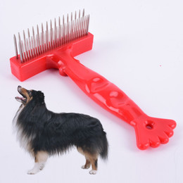 Fur Pet Hair Australia - slicker brush Pet Dog Cat Hair Fur Grooming Trimmer Flea Long Comb Brush Slicker Rake Tool