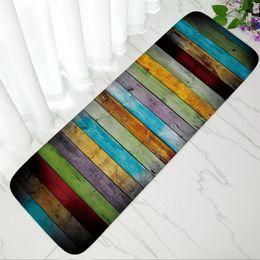 $enCountryForm.capitalKeyWord Australia - Non-slip Bathroom Carpet Soft Flannel Door Mat Colorful Stripe Toilet Bath Mat Kitchen Floor Mats Water Absorption Shower Rugs