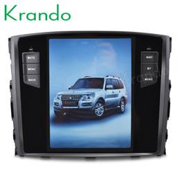 "$enCountryForm.capitalKeyWord Australia - Krando Android 7.1 10.4"" Tesla Vertical touch screen car dvd player GPS For Mitsubishi Pajero V97 2006-2015 multimedia system KD-MP206"