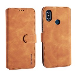 Luxury designer waLLet case online shopping - Retro Stand Wallet Leather Phone Case Designer Brand Luxury Flip Cover For Xiaomi Poco F1 Redmi Note Pro A Vintage Shell
