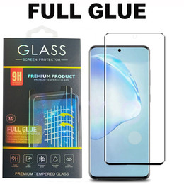 matte phone screen UK - 5D Full Glue Full Cover Tempered Glass Phone Screen Protector For Samsung Galaxy S20 Plus Ultra S10 S9 S8 Note10 Plus NOTE9 Huawei P40PRO