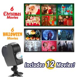 strobe lights halloween 2020 - Led flood light projection lamp window projector led Christmas laser light Halloween projection Flood Light Projection l