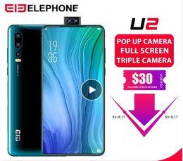 """Venta al por mayor de Elephone U2 16MP Pop Up Camera Teléfono móvil Android 9.0 MT6771T Octa Core 6GB + 128G 6.26 """"FHD + Pantalla ID de cara 4G LTE Smartphone"""