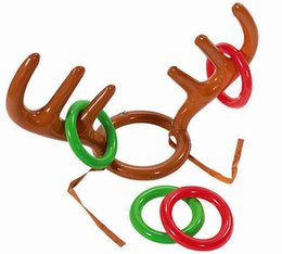 outdoor christmas games Australia - Elk Horn Inflatable beach pool Toys Kids Moose Antlers Cute Deer Head Shape Ferrule Game For Outdoor Games Christmas Decor free shipping ZY