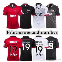 Wholesale 2019 New Zealand Super rugby CRUSADERS Super Rugby Jerseys size S XL Print name and number Top quality