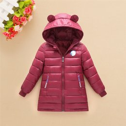 down parkas for kids NZ - Kids Girls Jacket 2019 Autumn Winter Jacket For Girls Coat Baby Warm Hooded Outerwear Coat Girls Clothing Children Down Parkas