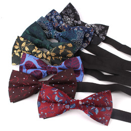 $enCountryForm.capitalKeyWord Australia - Men Bow Tie Classic Shirts Bowtie For Men Business Wedding Adult Floral Bow Ties Butterfly Suits Cravats Jacquard Bowties
