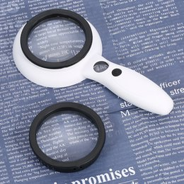 Loupe 5x Australia - Interchangeable 2.5X 5X 12X Magnifying Glass Handheld Loupe Magnifier with 9 LED Light Magnifying Lens for Book Maps Reading