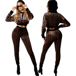 $enCountryForm.capitalKeyWord Australia - Women Designer Sexy Slim Suits Luxury Two Piece Pants for Womens 2019 Brand Ladies Fashion Night Club Style Clothing