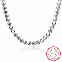 $enCountryForm.capitalKeyWord NZ - Lekani Women's Fine Jewelry 20'' 8mm Hollow Buddha Beads Necklace 925 Sterling Silver Charm Chain Collier Es Plata Free Shipping