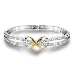 Czech Crystal Sets Australia - ROMAD Elegant Romantic Czech Crystal Stones Bracelet Strand Bracelets For Women Bridal Jewelry Gift Charm Accessories R5