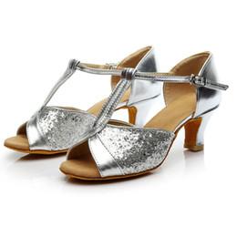 620d0d536 shoes woman sandals solid Fashion bling Ballroom Latin Salsa Dance Shoes  Sandals high heel sandalias mujer