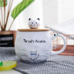 CeramiC lids online shopping - Ceramic Cup Mug New Cartoon Cat Cute Ceramic Coffee Cup Office Household Drinking Cup Mugs