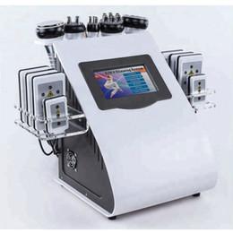 Yeni 8 Pedler RF Vakum Kavitasyon Lipo 6 1 Lazer 40 K Zayıflama Yağ, Ev Kullanımı için Sistem Makinesini Azaltın