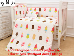 $enCountryForm.capitalKeyWord Australia - Promotion! 6 7PCS 100% cotton baby cot bedding multifunctional baby bedding sets crib bedding, 120*60 120*70cm