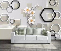 $enCountryForm.capitalKeyWord Australia - 3d dimensional minimalist background wall modern TV background wallpaper murals bedroom wallpaper flower box wall covering