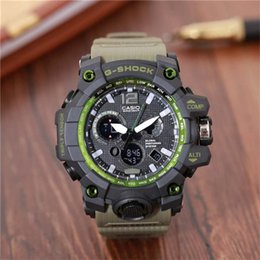 Men Digital Wrist Watches Australia - Men PRW Sports Electronic chronograph wristwatch ga 100 110 Men's g Watch Big Dial Digital waterproof LED male shock Wrist Watches g 002