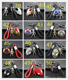 $enCountryForm.capitalKeyWord NZ - 98 styles Avengers Keychain Metal Car Pendant Creative Gift Car Key Chain Man Wei Anime Ornament Llavero Moto Key Ring For Car Access 190426