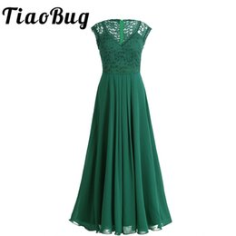 adult pageants dresses Canada - Tiaobug 2018 Green black Vestidos Women Bridesmaid Dresses Party Formal Pageant Dress Long Prom Tulle Lace Maxi Adults Dresses SH190827