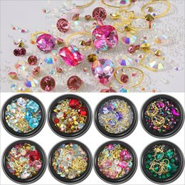 kind beads 2019 - Hot 12 Styles Nail art Mixed loading Metal Rhinestone Crystal beads All kinds of perfect match DIY accessories cheap kin