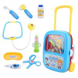 $enCountryForm.capitalKeyWord Australia - New 9pcs set Children Pretend Play Doctor Nurse Toy Electronic Medical Kit Toy for Kids Educational Role Play Doctor Nurse Toys