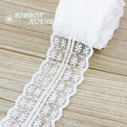 rolls pack NZ - (5 yards roll) 45mm White lace fabric Webbing Decoration Lovely gift packing Material