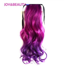 blonde mix ponytail UK - Hair High Temperature Fiber Long Wavy Ombre Clip In Hair pieces Sythetic Hair Ponytail 22inch 14Color Available