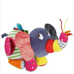 baby stroller toy elephant UK - Infant Activity Toys Baby Large Elephant Stroller Rattles Mobiles Baby Brinquedos Educational plush Toys For Toddlers