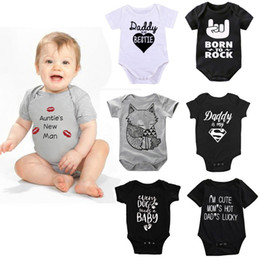 newborn baby boys clothing 2020 - Newborn Baby Rompers 172 Style Infant Short Sleeve Letter Romper Kids Casual Clothing Boys Jumpsuits Vêtement Bébé Toddl