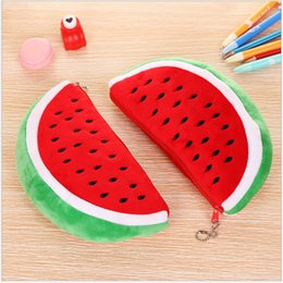 $enCountryForm.capitalKeyWord Australia - Lovely big watermelon cosmetic bag watermelon pen bag wholesale lovely Plush stationery