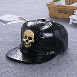 $enCountryForm.capitalKeyWord Australia - Maxi High Quality Hip Hop Hat, Flat-Brimmed Hat, Rock Cap, rhinestone skull Adjustable Snapback Hat for Men and Women