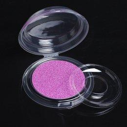 Vente en gros Faux cils Boîtes Plastique Vide Clair Ronde Faux Cils Blister Case 3D Faux Cils Stockage Boîte D'emballage Maquillage Pour Les Yeux