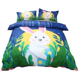$enCountryForm.capitalKeyWord UK - 3D Unicorn Bedding Set For Girl Boy Soft Eco-friendly Printing Animal Duvet Cover Pillow Case Twin Full Queen King Size Bedding Sets