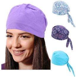 wholesale cotton rags NZ - New Women summer Paisley durag Skull Cap Cotton Biker Motorcycle Bandana Head Wrap Headwear Du Doo Do Rag Rags hair accessories
